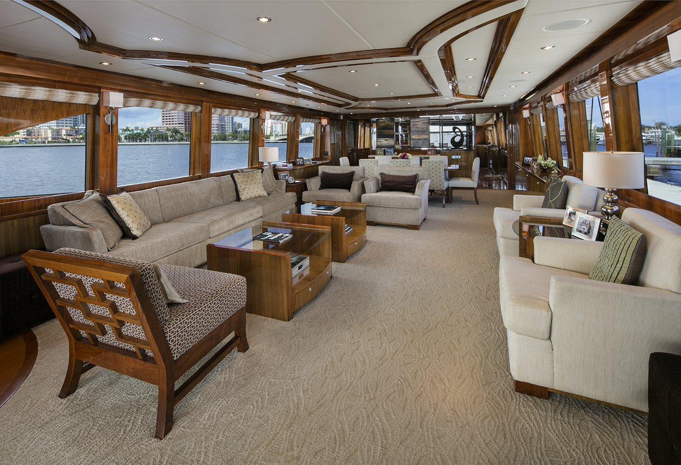 Luxury Charter Yacht Lady Deena Salon